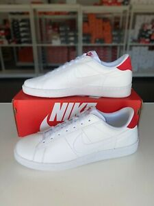 Estresante a lo largo Clínica  Nike Tennis Classic CS Casual Shoes White Red 683613-113 Men's NEW | eBay