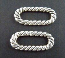 150pcs Tibetan Silver Twisted Ring Connectors 18.5x8mm 1774