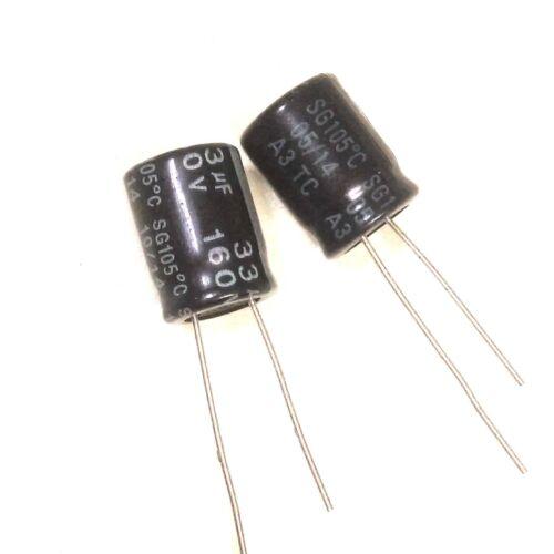 10pcs 160v 33uf 33mfd 105c aluminum electrolytic capacitor 10×13mm