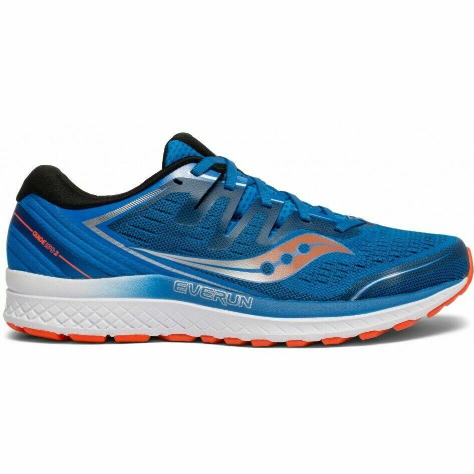 Saucony S20464-36 Guide ISO 2 azul naranja Mens Running Zapatos TENIS