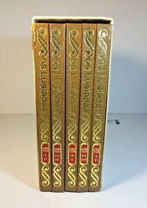 1971 OS LUSIADOS LUIS DE CAMOES 5 VOLUME BOOK SET WITH SLIP CASE