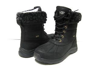 UGG ADIRONDACK III LEOPARD - Bottines à lacets noir J360i