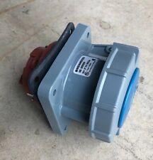 Mennekes ME 360B6W Pin /& Sleeve Inlet 2P-3W 250V 60A 1PH Series 60309 Type 60693