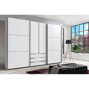 schwebet renschrank schlafzimmer schrank kleiderschrank 300 cm m bel wei ebay. Black Bedroom Furniture Sets. Home Design Ideas