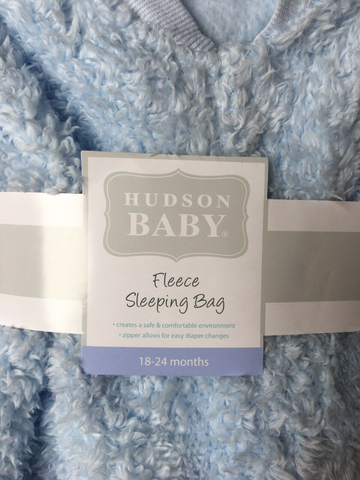 Hudson Baby Sleeping Bag Whales 06-12 months MD 100/% Cotton.
