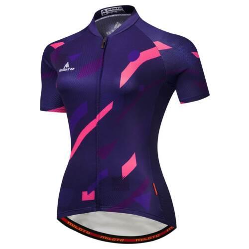 Reflective Biking Jersey Top Women/'s Full Zip Cycling Bike Bicycle Jersey Shirt