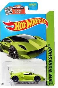 2015 Hot Wheels 198 Hw Workshop Night Burners Lamborghini Sesto