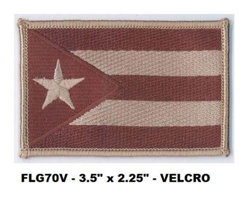 FLG70V PUERTO RICO DESERT VEL-KRO FLAG PATCH