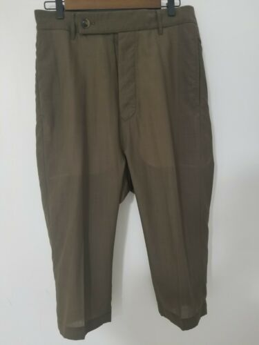 Authentic Rick Owens main line brown crepe Pants T