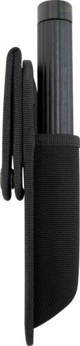 Black Rotating Swivel Long Baton or Flashlight Holder Pouch
