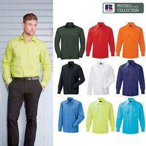 Russell-Collection-Popelina-Camisa-para-hombre-Manga-larga-R-934M-0-Camisa-de-trabajo-formal