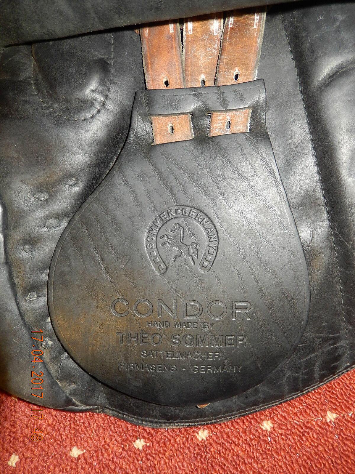 THEO SOMMER DRESSURSATTEL,guter Model: CONDOR,echte Leder,Kamm.17,5