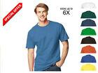 HANES USA Beefy Tagless Mens Heavyweight Tee T-Shirt Crewneck 100%Cotton S-6XL