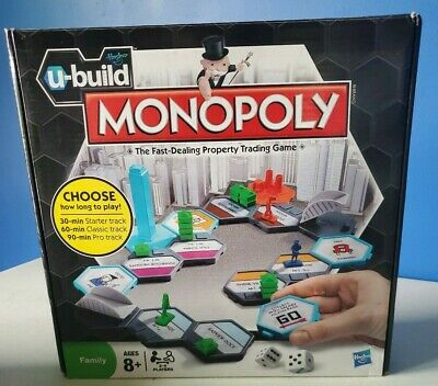 MONOPOLY The Fast Dealing Property Trading Game Brand New by Hasbro U-BUILD