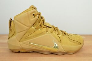 NEW Nike LeBron 12 EXT Wheat 2015 Size 7 Men's 744287-700 Tan Suede