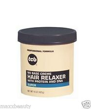 TCB No Base Cream Hair Relaxer 15oz Jar - Super