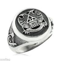 Sterling Silver Scottish Rite 32 Degree Masonic Ring