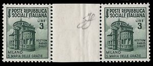 REPUBBLICA-SOCIALE-1945-3-Lire-MONUMENTI-n-511-COPPIA-INTERSPAZIO-SPL-15