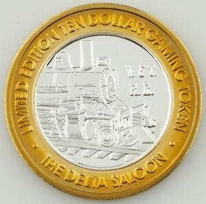 Delta-Saloon-Virginia-Ciudad-Nv-Diez-Dolar-Juegos-Token-999-Fino-Moneda-de
