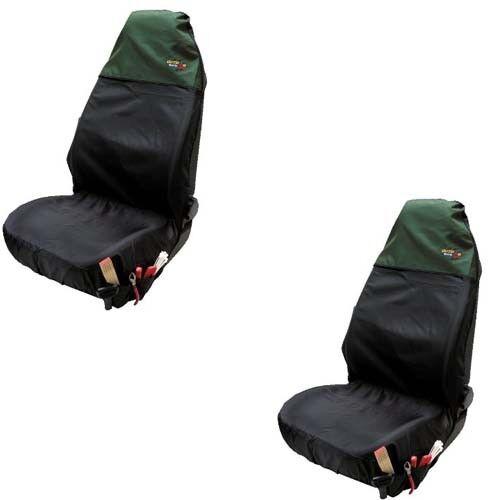 2 x Auto KFZ Werkstattschoner Sitzschoner Schonbezug Schutzbezug schwarz grün