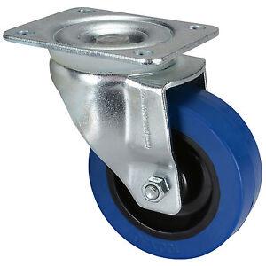 """Penn-Elcom W9000-V6 4"""" Swivel Caster w/Blue Wheel 550 lb."""