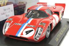 FLY C34 LOLA T70 LE MANS 1970 NEW 1/32 SLOT CAR IN DISPLAY CASE - PRISTINE CAR