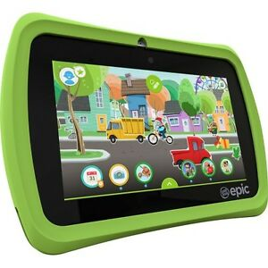 "LeapFrog 31576 Epic 7"" Touchscreen 1.3GHz 16GB Android-based Kids Tablet , Green"