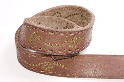 Donna occidentale Hickory Brown Hip Belt W Tagli OVALI motivo /& borchie di rame S416