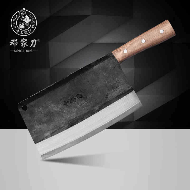Couperet Couteau Chef en acier forgé trancher couper du bois poignée viande Heavy Duty fer L