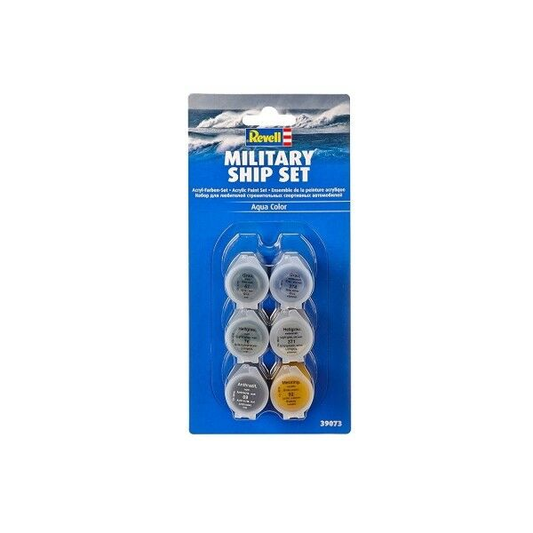 Revell 39073 Military SHIP Aqua Colour Paint Set (39073) Set of 6 Paints