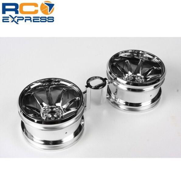 Chrome Plated Tamiya 54677 RC GF-01 10-Spoke Wheels