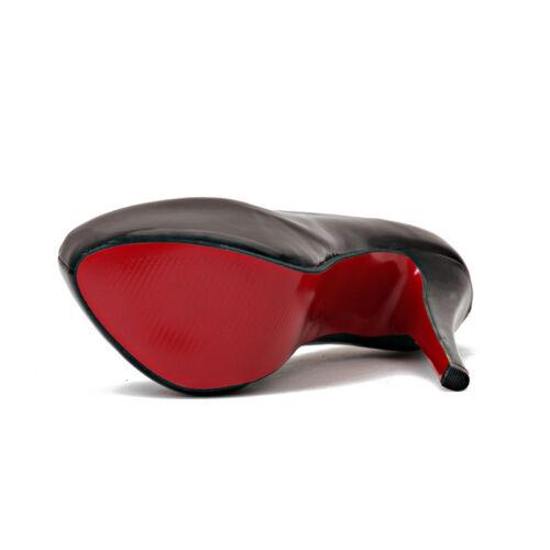 Men/'s Platform High Heels Pumps Crossdresser Drag Queen Black Red Women Shoes