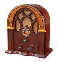 Vintage Wooden Tube Radio Cathedral Antique Transistor Am Fm Retro Portable Old