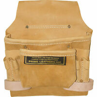 8-pocket Leather Nail And Tool Pouch