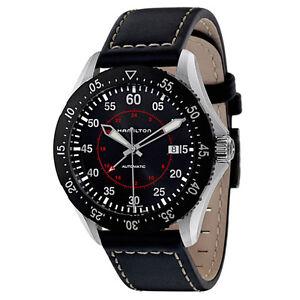 NEW-Hamilton-Khaki-Aviation-Pilot-GMT-Auto-Men-039-s-Automatic-Watch-H76755735