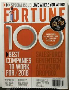 Details about Fortune 100 Best Companies To Work For Special March 2018  FREE SHIPPING JB