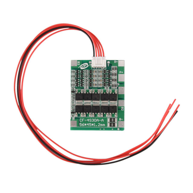 4S 30A 14.8V Li-Ion Lithium 18650Battery Bms Pcb Protection Board Cell Balance#