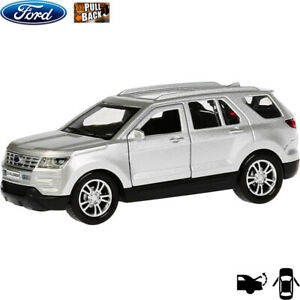 Diecast-Vehicles-Scale-1-36-Ford-Explorer-Silver-Mid-size-SUV-Russian-Model-Car