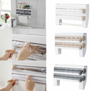Image Is Loading Kitchen Organizer Cling Film Sauce Bottle Storage Rack