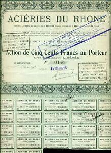 ACTION MINES ACIERIES DU RHONE LYON 1925 AwmujJeT-09155201-152659380