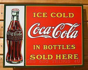 Coca Cola Coke Call For Genuine Advertising Vintage Retro Decor Metal Tin Sign