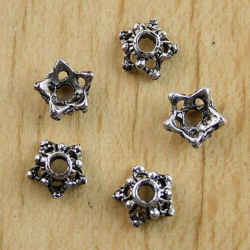 100pcs Tibetan silver color  dotted flower bead caps h0696