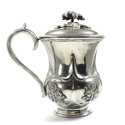Antike Silber Tasse mit Deckel 84 Zolotniki Russland St. Petersburg 1846 datiert