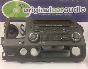 06 07 08 09 honda civic oem radio cd player mp3 disc. Black Bedroom Furniture Sets. Home Design Ideas