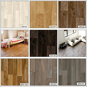 Wood effect anti slip home office hallway bathroom high for Wood effect vinyl flooring bathroom