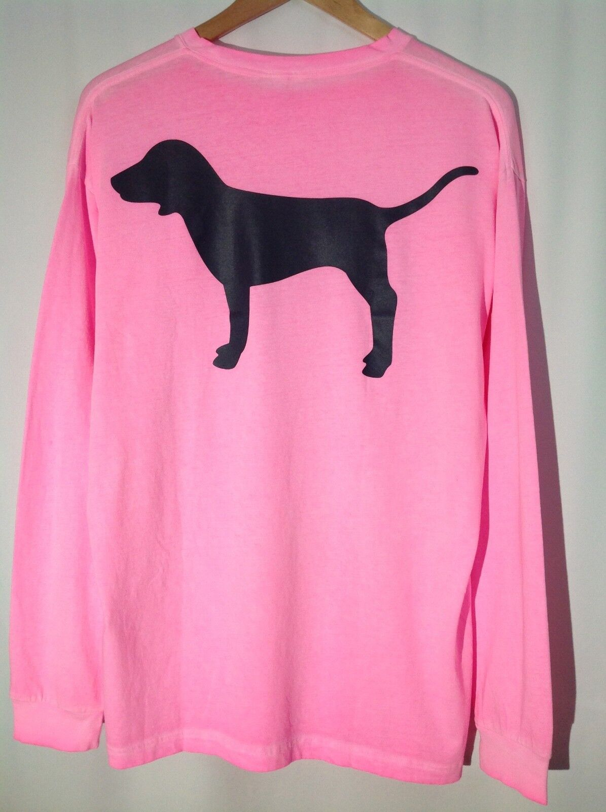 Victoria's Secret Pink - S - VINTAGE WASHED LONG SLEEVE CAMPUS TEE - NWT