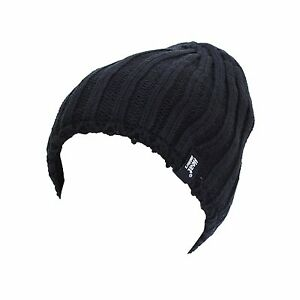 097918632a1 Mens Ribbed Knitted 3.4 tog Heatweaver thermal Hat by Heat Holders ...