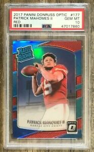 PATRICK-MAHOMES-2017-OPTIC-RATED-ROOKIE-RED-PRIZM-REFRACTOR-99-PSA-10-GEM-RC