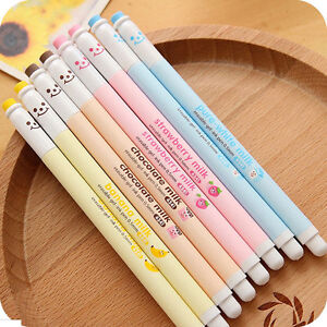 Kawaii-Cartoon-Happy-Smile-0-5mm-Erasable-RollerBall-Pen-Gel-Pen-Blue-Ink-FF