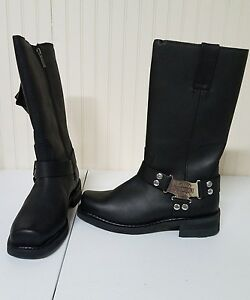 #302 NEW without box Harley-Davidso<wbr/>n riding boots, black, size 8.5
